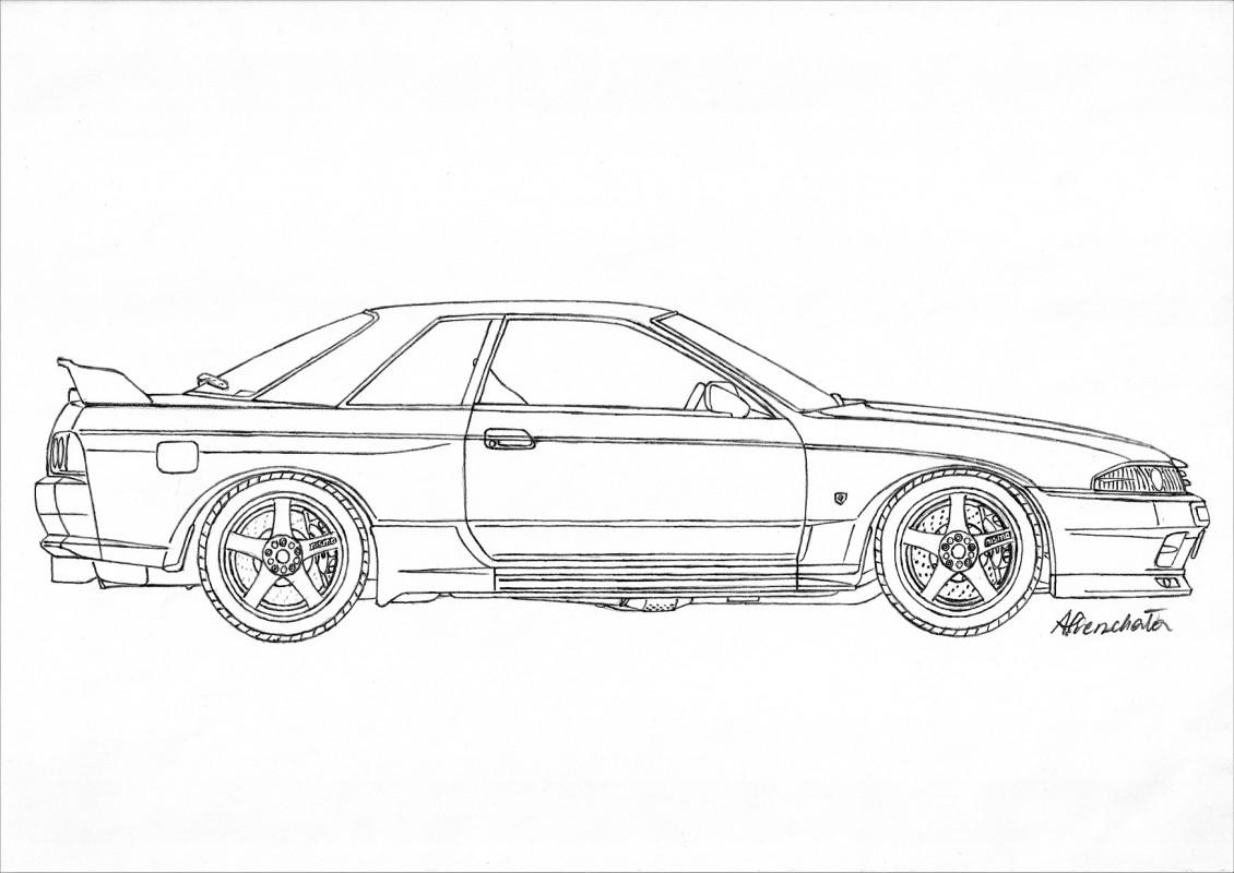 Nissan Skyline Sketch At Paintingvalley
