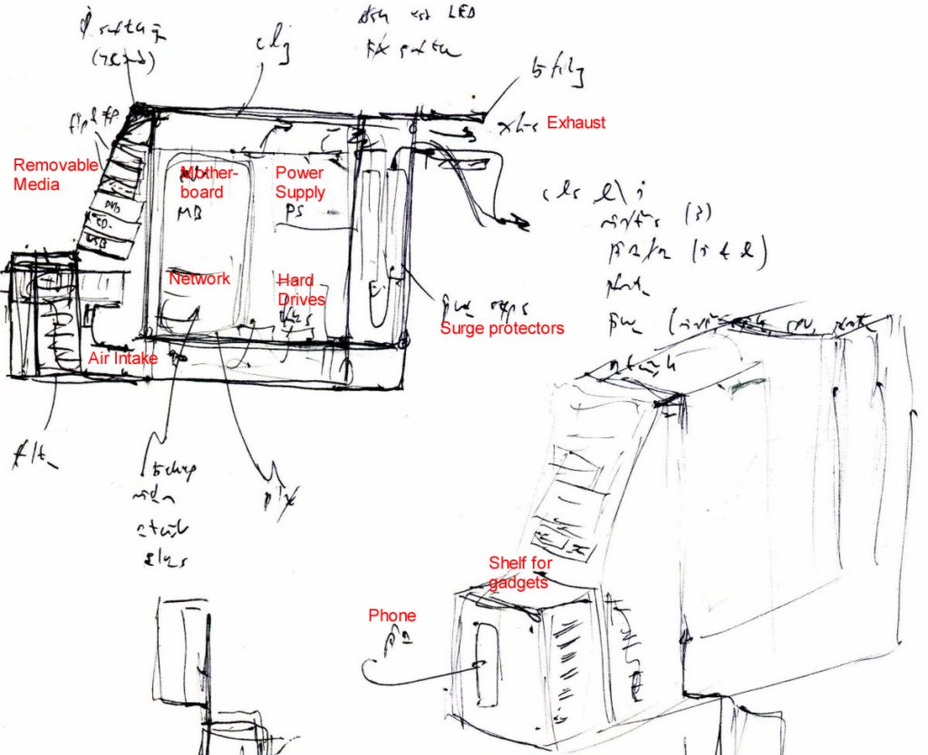 Sketch Of Computer Parts At Paintingvalley