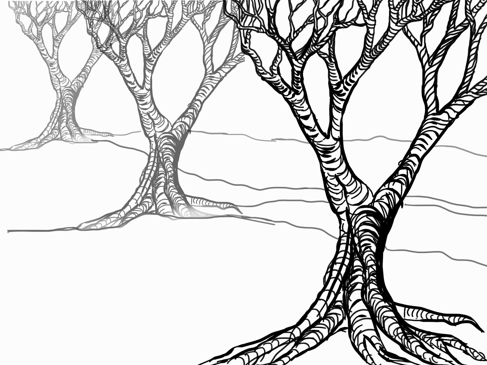 Tree Without Leaves Sketch At Paintingvalley