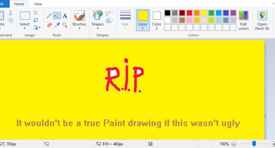 derniere version de paint sous windows 10
