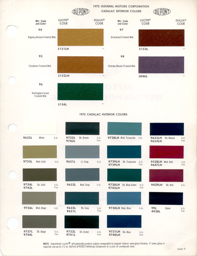 1969 Chevy Paint Colors