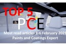 Top 5 Most read articles from 1-6 February, 2021 on Paints and Coatings Expert