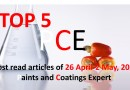 Top 5 Most read articles from 26 April-2 May, 2021 on Paints and Coatings Expert