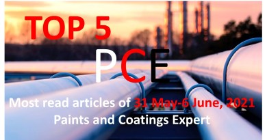 Top 5 Most read articles from 31 May-6 June, 2021 on Paints and Coatings Expert