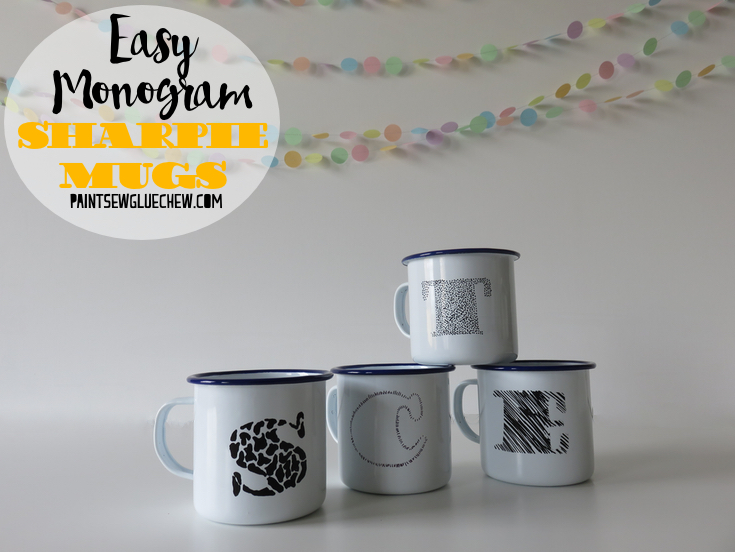 Sharpie Decorated Personalised Mugs