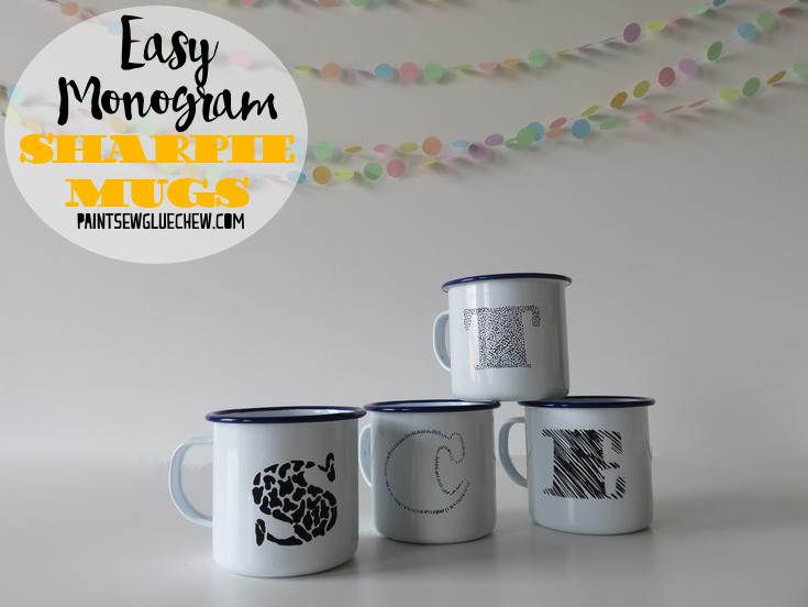 Sharpie Decorated Personalised Mugs