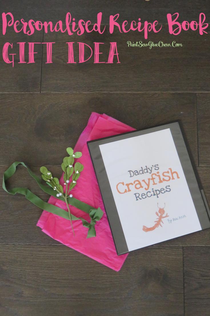 Personalised Recipe Book Gift Idea DIY