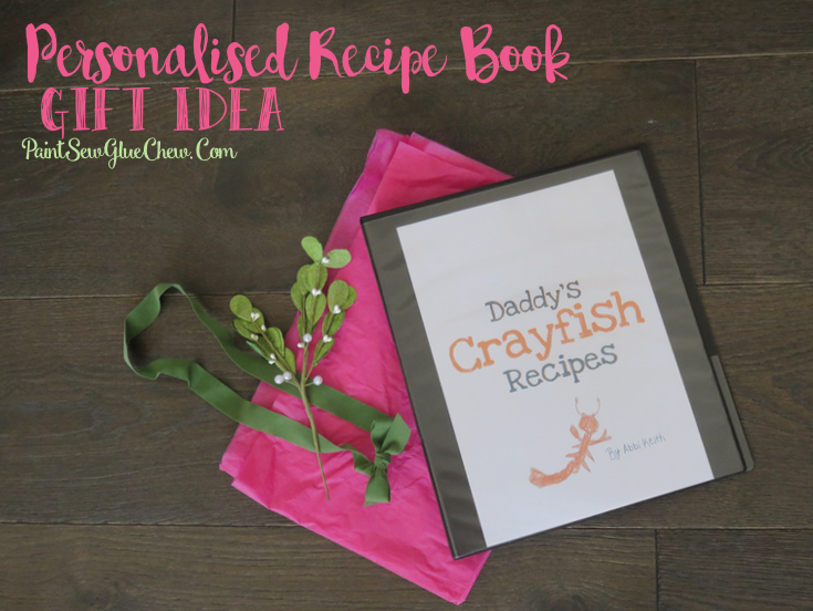 Personalised Recipe Book Gift Idea DIY