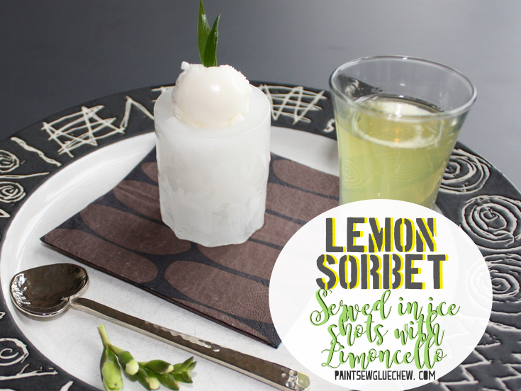 Lemon Sorbet Shots with Limoncello
