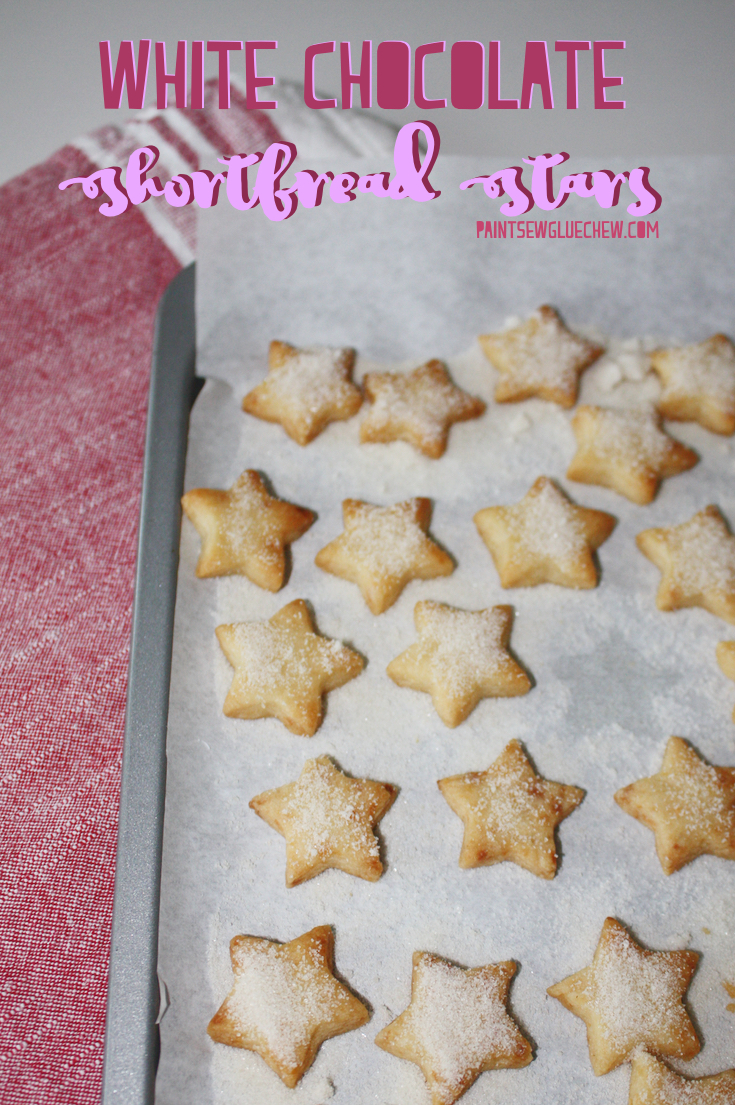 White Chocolate Shortbread Stars