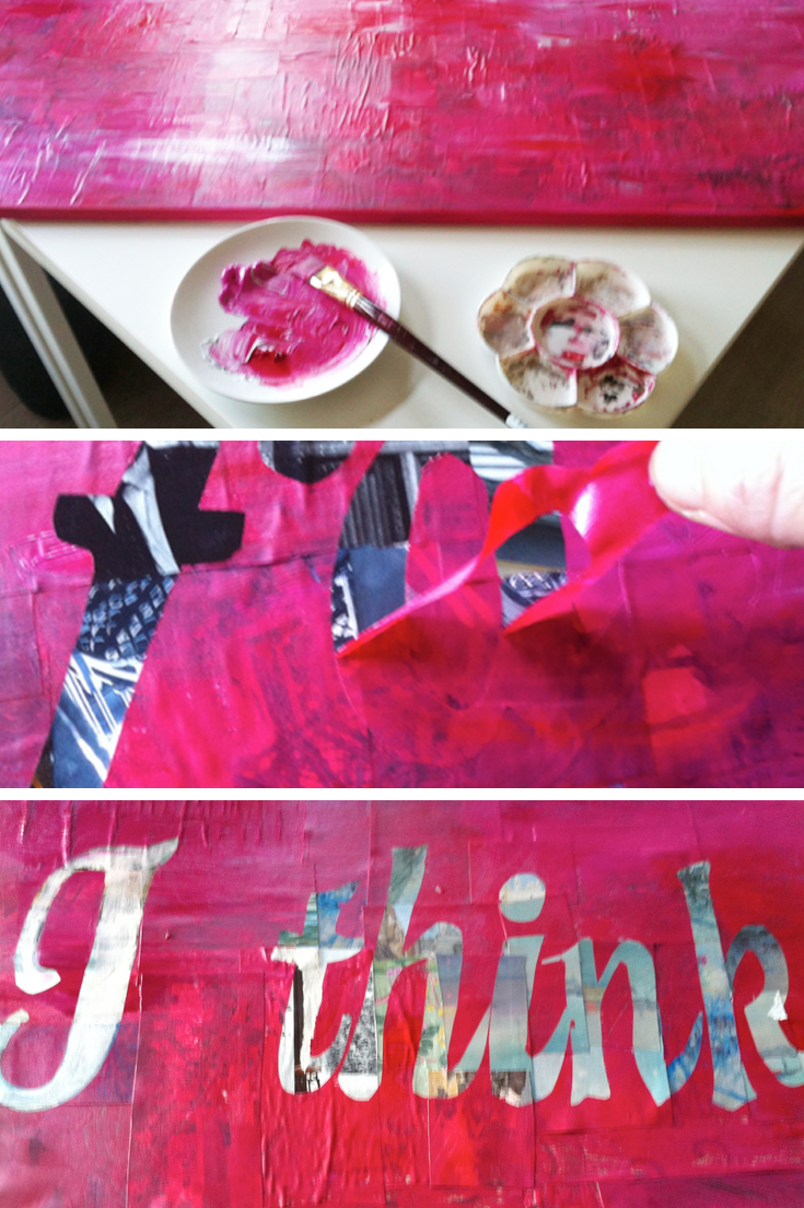 Contact Paper Printing Easy DIY Wall Art