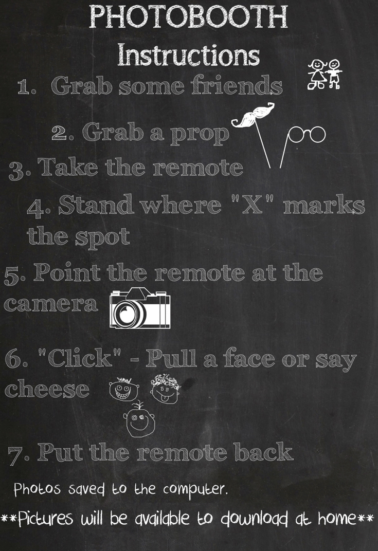 Chalkboard Photo Booth Sign