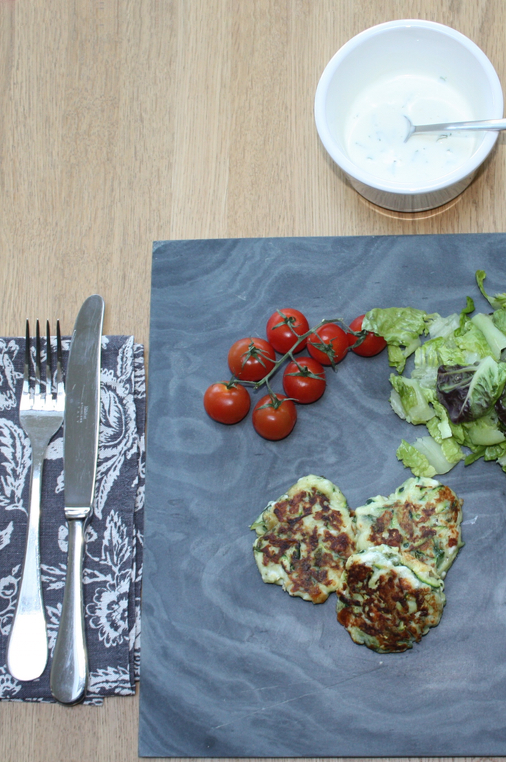 Courgette Mint And Feta Fritters