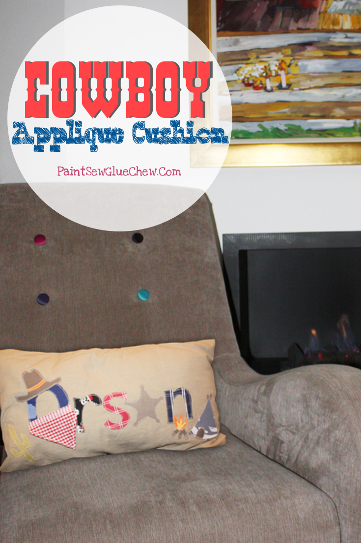 Cowboy Applique Cushion