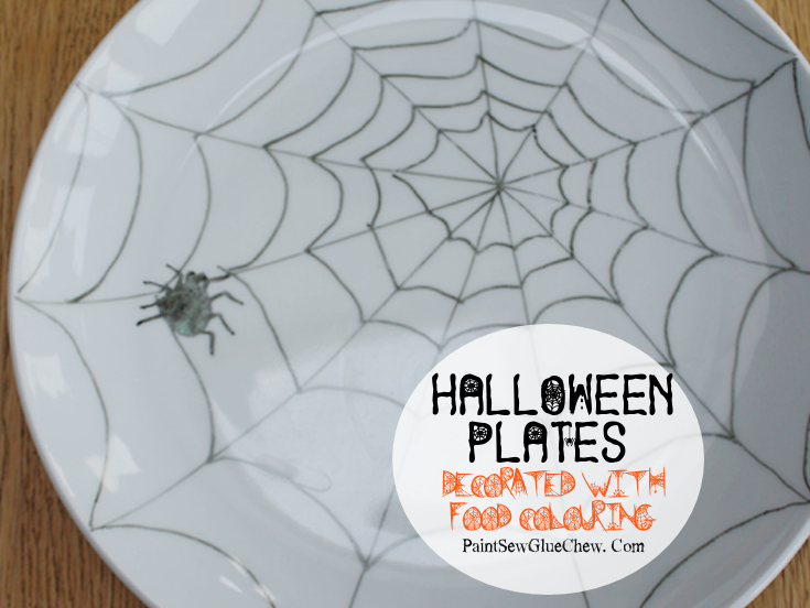 Halloween Plates Decorated with Food Colouring