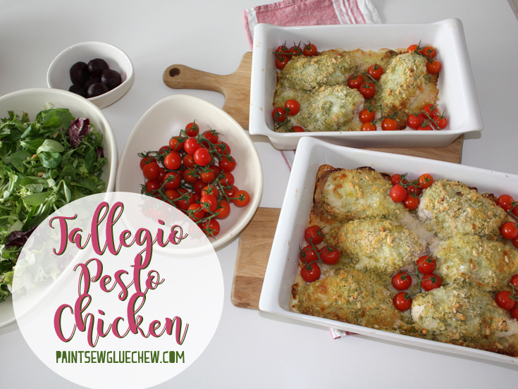 Pesto and Tallegio Chicken with Roasted Tomatoes