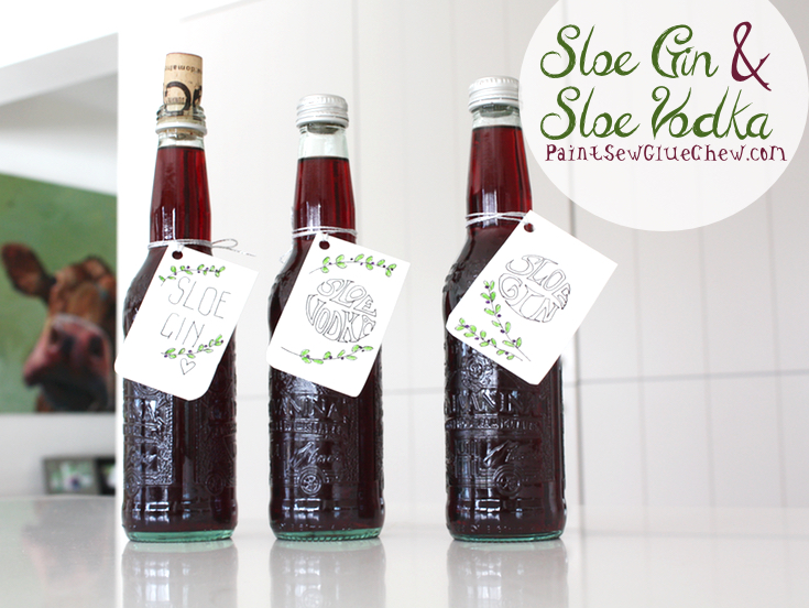 Sloe Gin and Sloe Vodka