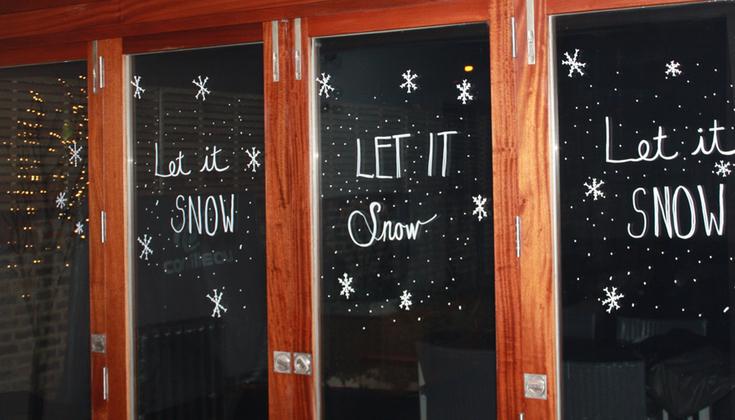 Chalk Marker Christmas Decorations