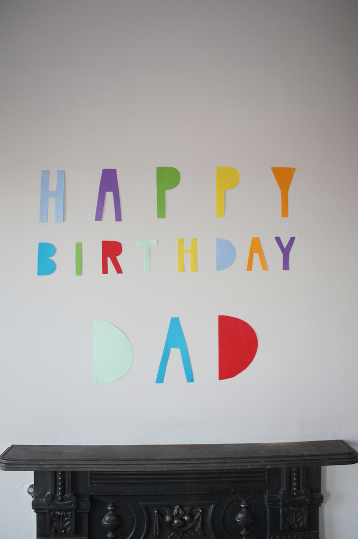 Easy Paper Birthday Banner