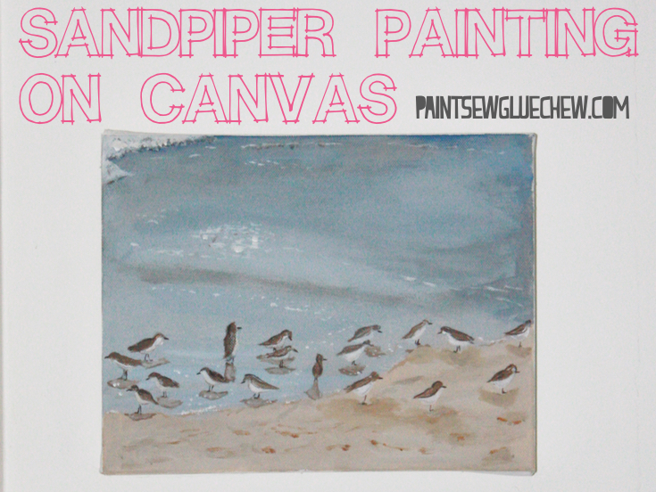 Sandpiper Painting on Mini Canvas