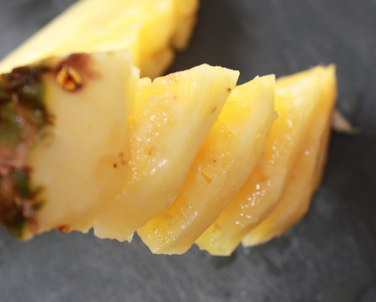 Chargrilled Pineapple with Lime and Brown Sugar Glaze