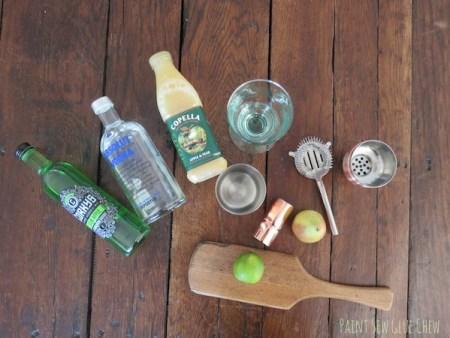Pear and apple cocktail