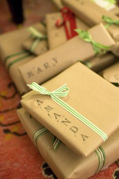 Letter Printed Gift Wrap