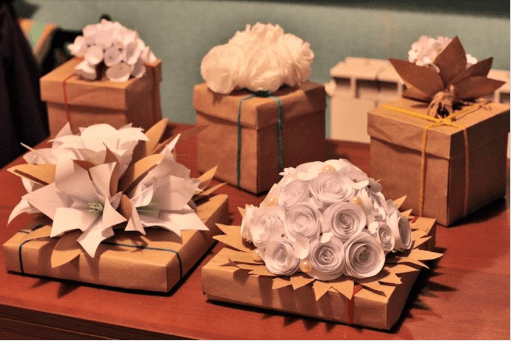 Paper Flowers Gift wrap