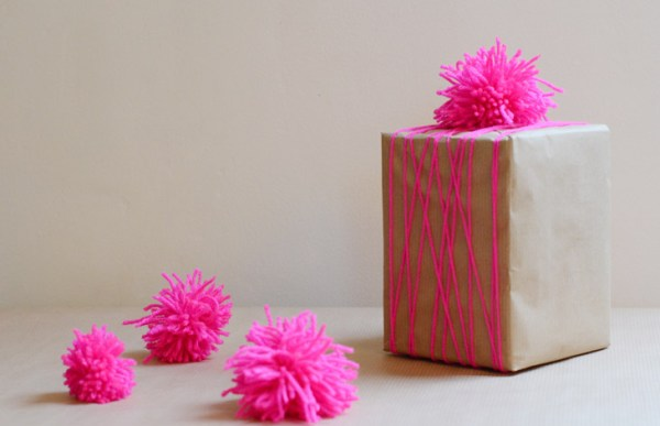 Neon Pompom Giftwrap