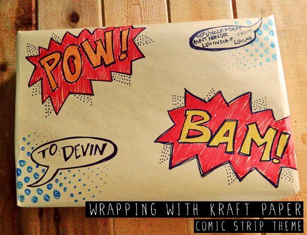 Cartoon Gift wrap DIY