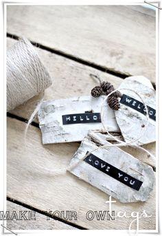 Birch Gift Tags DIY