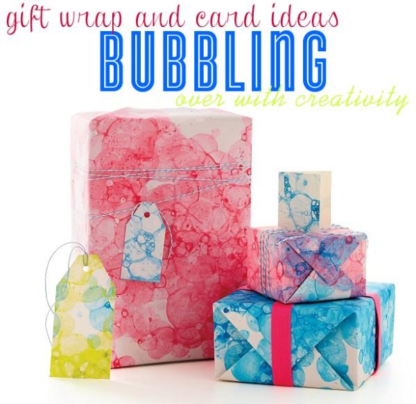 Bubble Print Gift Wrap DIY