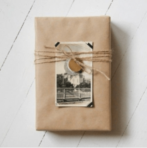 Photograph gift wrap