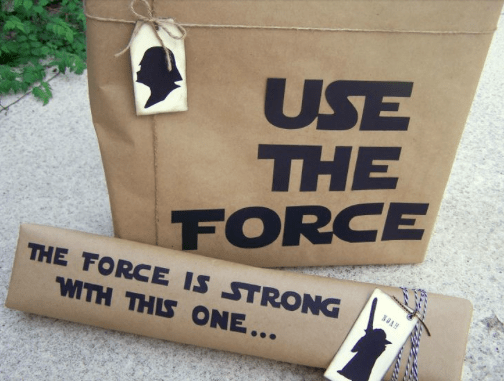 Star Wars Gift wrap diy