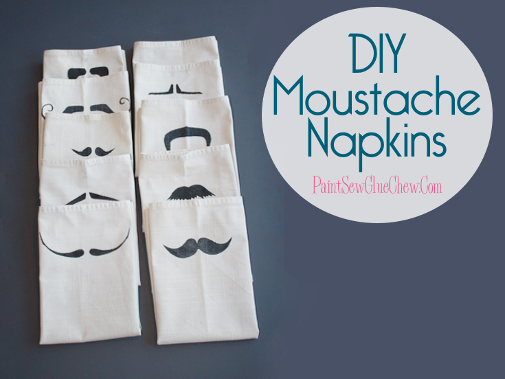 Movember Inspired Moustache Napkin DIY