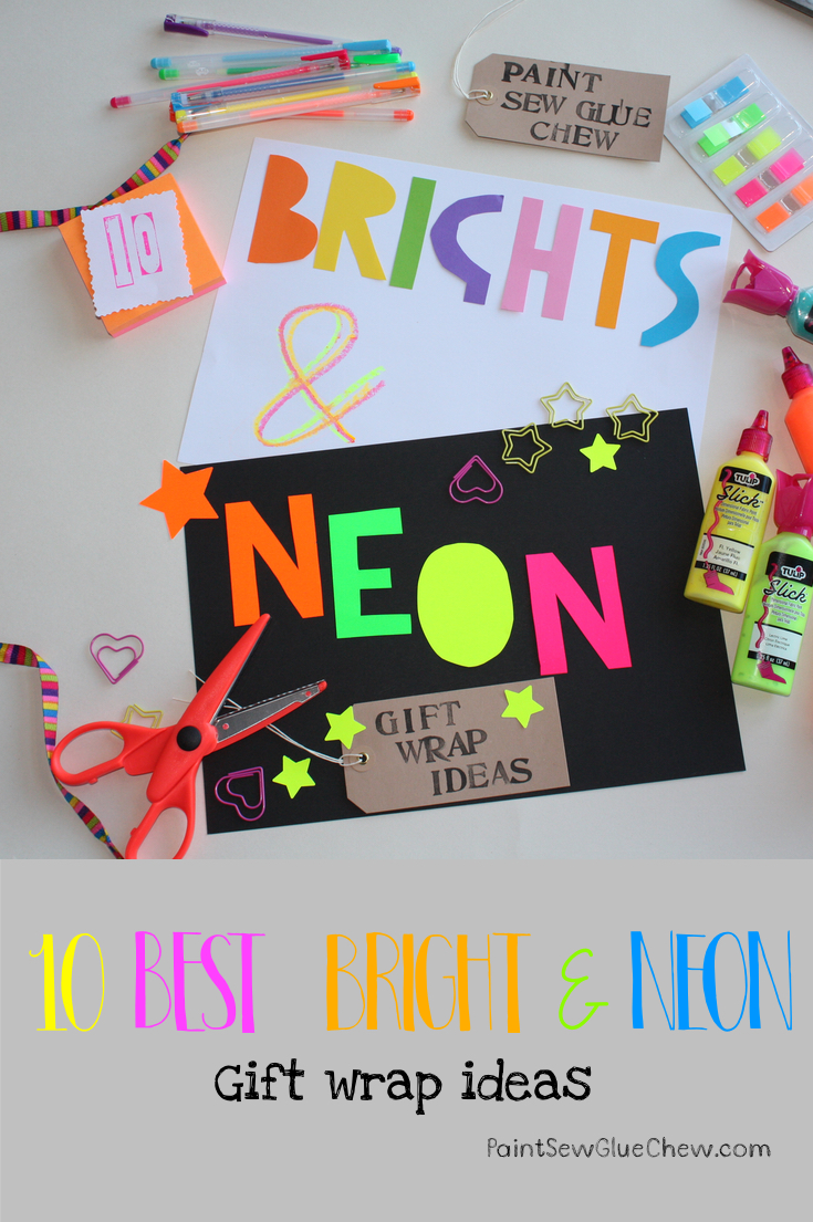 Gift Wrap Ideas (7): Bright & Neon Wrapping Paper