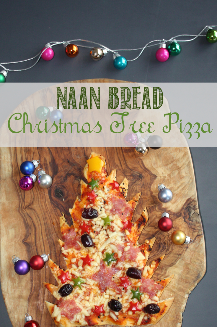 Easy Christmas Tree Naan Pizza