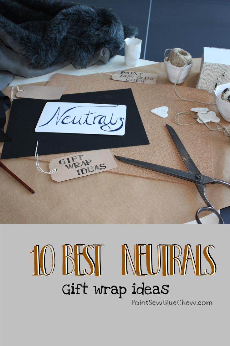 Gift Wrap Ideas (8): Neutrals