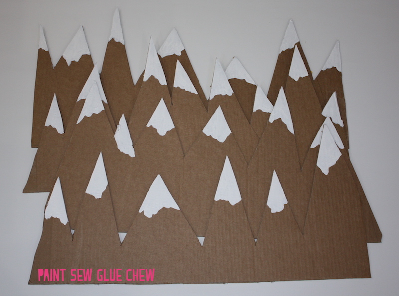 carboard mountain decorations