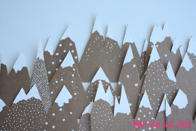 Cardboard Mountain Christmas Decorations