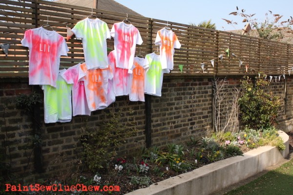 Fluorescent t shirt DIY