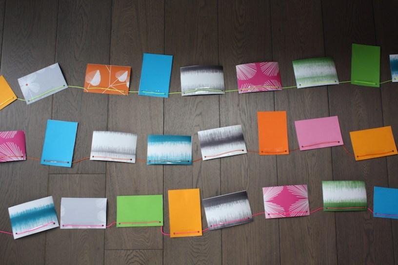 Wallpaper bunting