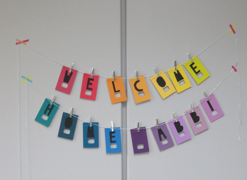 DIY paint chip banner instructions