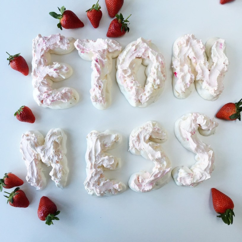 How to make meringue letters