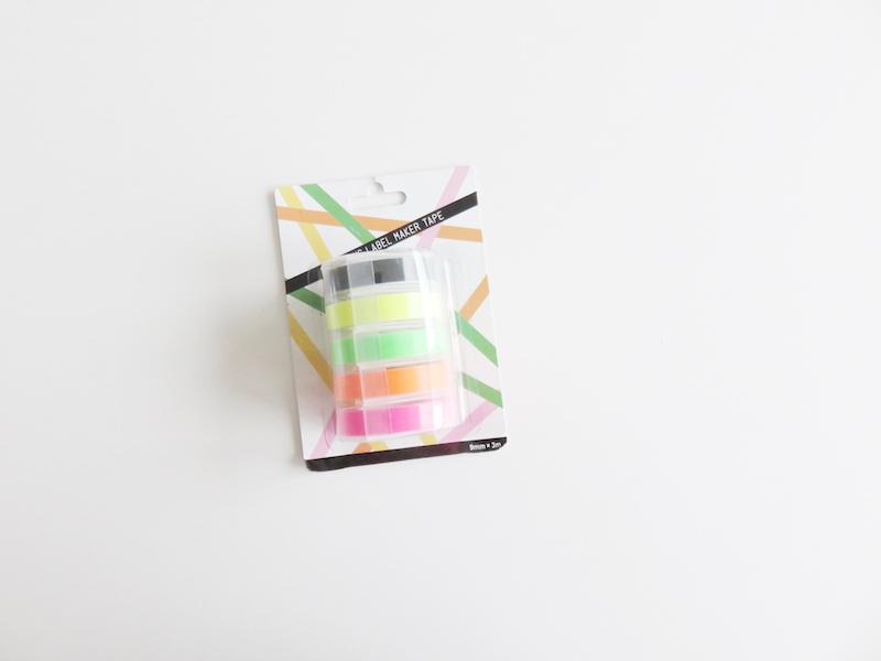 Neon Dymo Tape