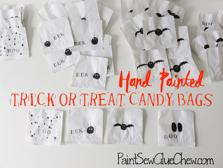 Halloween Candy Bags in various designs
