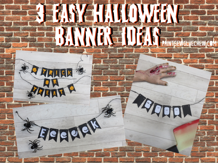 Halloween Garland - 3 Easy Ideas