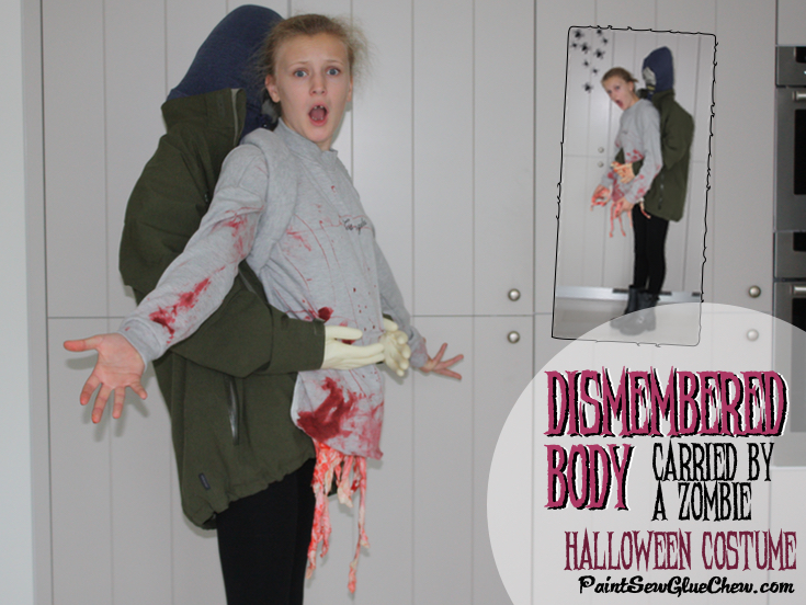 Dismembered Body Halloween Costume with Zombie