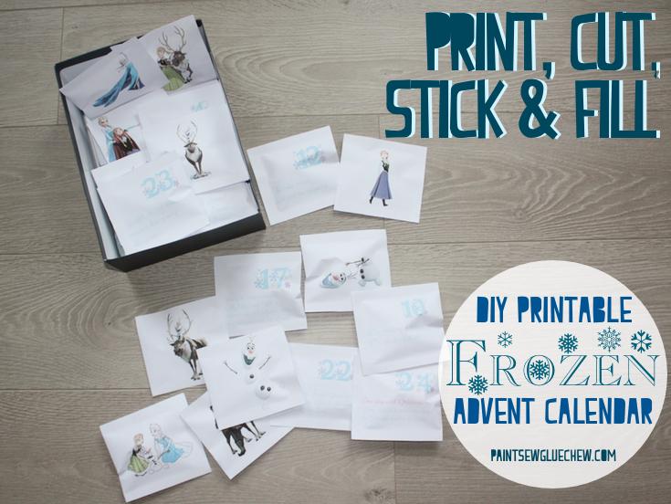 Frozen Advent Calendar - DIY Print And Fill