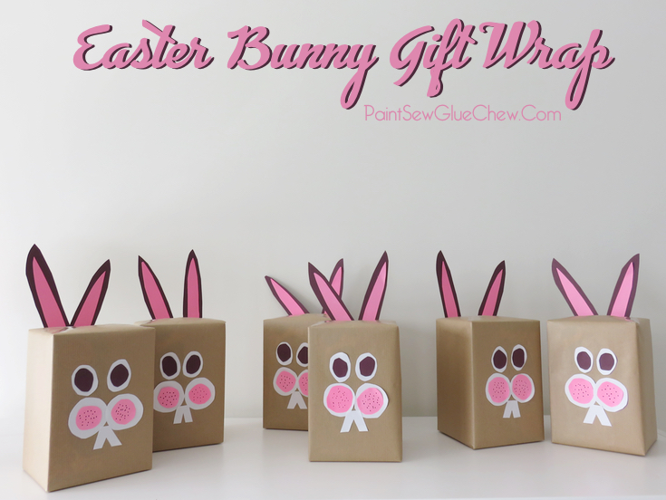 Easter bunny gift wrap paintsewgluechew easter bunny gift wrap negle Image collections